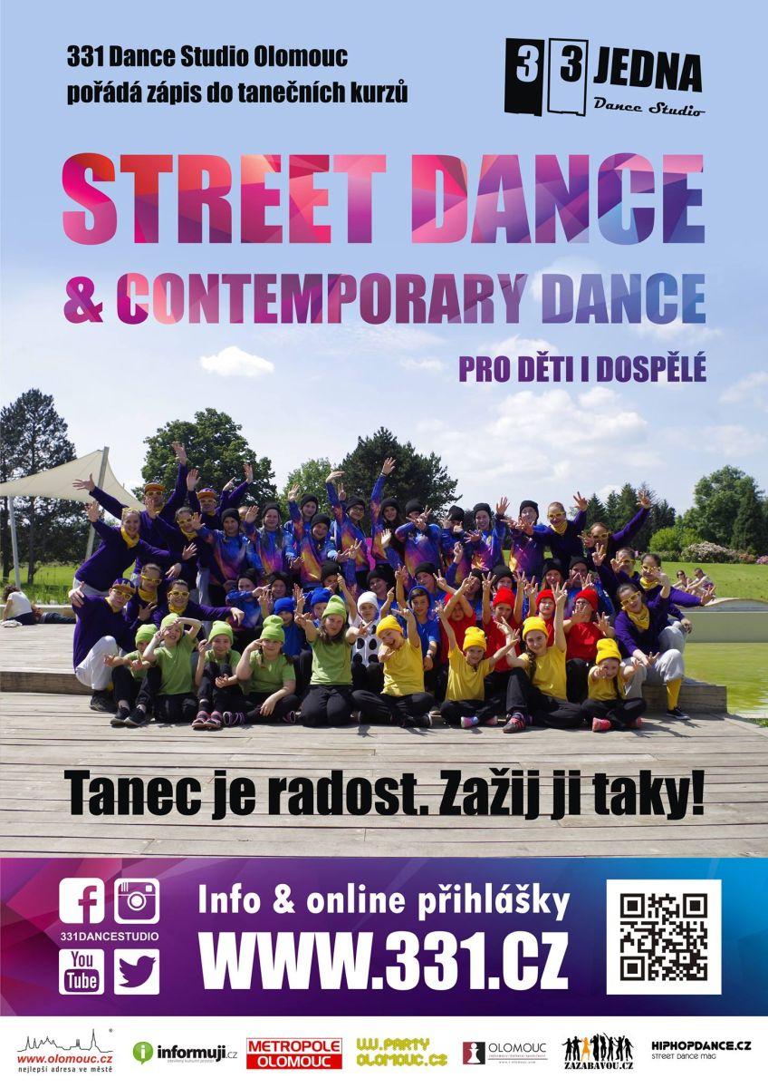 Zápis do tanečních kurzů 331 Dance Studia Olomouc