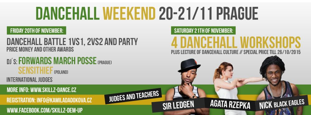Skillz Dem Up se stěhuje do Prahy, dancehall weekend se blíží
