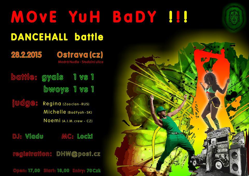 Ostravu roztancuje čistě dancehallová akce Move Yuh Bady